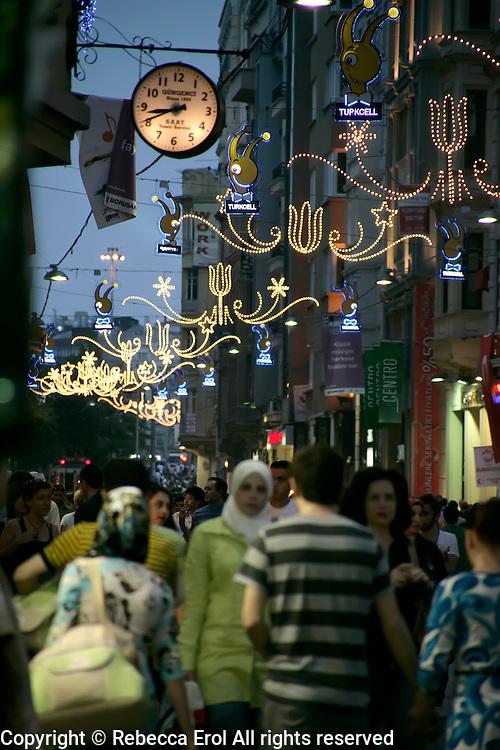Istiklal Caddesi in Beyoglu, Istanbul, Turkey