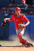 Ohio State Buckeyes Steel Russell #17 during a game vs. the Illinois State Redbirds at Chain of Lakes Park in Winter Haven, Florida;  March 11, 2011.  Illinois defeated Ohio State 12-1.  Photo By Mike Janes/Four Seam Images