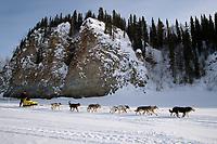 Mitch Seavey on Yukon River Near Ruby Alaska<br /> 2004 Iditarod