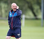 Mark Warburton laughing