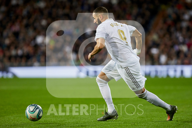 Karim Benzema of Real Madrid during La Liga match between Real Madrid and Real Betis Balompie at Santiago Bernabeu Stadium in Madrid, Spain. November 02, 2019. (ALTERPHOTOS/A. Perez Meca)