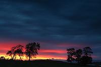 Sunset above Balgray Reservoir, Barrhead, East Renfrewshire<br /> <br /> Copyright www.scottishhorizons.co.uk/Keith Fergus 2011 All Rights Reserved