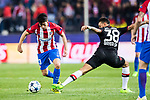 Nicolas Gaitan (l) of Atletico de Madrid fights for the ball with Karim Bellarabi of Bayer 04 Leverkusen during their 2016-17 UEFA Champions League Round of 16 second leg match between Atletico de Madrid and Bayer 04 Leverkusen at the Estadio Vicente Calderon on 15 March 2017 in Madrid, Spain. Photo by Diego Gonzalez Souto / Power Sport Images