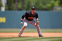Jupiter Hammerheads third baseman Gunnar Schubert (5) during a Florida State League game against the Florida Fire Frogs on April 11, 2019 at Osceola County Stadium in Kissimmee, Florida.  Jupiter defeated Florida 2-0.  (Mike Janes/Four Seam Images)
