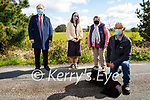 Local residents in Tullig Upper, Killorglin worried about the condition of the road on Saturday. Front: Tom O'Sullivan with Holly the dog. Back l to r: Cllr Michael Cahill, Ruth Cronin and Kathleen O'Shea.