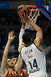 Real Madrid´s Gustavo Ayon during 2014-15 Euroleague Basketball match between Real Madrid and Galatasaray at Palacio de los Deportes stadium in Madrid, Spain. January 08, 2015. (ALTERPHOTOS/Luis Fernandez)