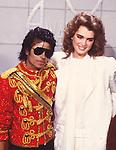 Michael Jackson 1984 American Music Awards with Brooke Shields.© Chris Walter.