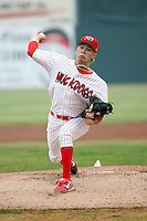 July 5th, 2007:  Clayton Long of the Batavia Muckdogs, Short-Season Class-A affiliate of the St. Louis Cardinals at Dwyer Stadium in Batavia, NY.  Photo by:  Mike Janes/Four Seam Images