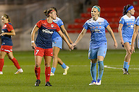 Chicago, IL - Saturday Sept. 24, 2016: Christine Nairn, Julie Johnston during a regular season National Women's Soccer League (NWSL) match between the Chicago Red Stars and the Washington Spirit at Toyota Park.