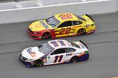 #11: Denny Hamlin, Joe Gibbs Racing, Toyota Camry FedEx Express, #22: Joey Logano, Team Penske, Ford Mustang Shell Pennzoil