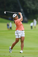 16th July 2021, Midland, MI, USA;  Nasa Hataoka (JPN) watches her approach shot on 15 during the Dow Great Lakes Bay Invitational Rd3 at Midland Country Club on July 16, 2021 in Midland, Michigan.