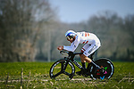 Austrian Champion Matthias Brändle (AUT) Israel Start–Up Nation during Stage 3 of Paris-Nice 2021, an individual time trial running 14.4km around Gien, France. 9th March 2021.<br /> Picture: ASO/Fabien Boukla | Cyclefile<br /> <br /> All photos usage must carry mandatory copyright credit (© Cyclefile | ASO/Fabien Boukla)