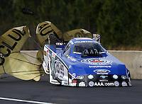 Mar. 17, 2013; Gainesville, FL, USA; NHRA funny car driver Robert Hight during the Gatornationals at Auto-Plus Raceway at Gainesville. Mandatory Credit: Mark J. Rebilas-