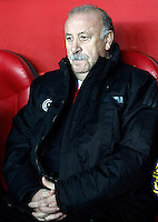 Spain's coach Vicente del Bosque during international match of the qualifiers for the FIFA World Cup Brazil 2014.March 22,2013.(ALTERPHOTOS/Acero)