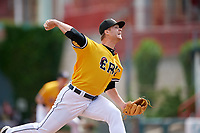 Erie SeaWolves pitcher Logan Shore (38) during an Eastern League game against the Altoona Curve and on June 4, 2019 at UPMC Park in Erie, Pennsylvania.  Altoona defeated Erie 3-0.  (Mike Janes/Four Seam Images)