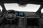 Stock photo of straight dashboard view of 2020 Chevrolet Corvette-Stingray 3LT 3 Door Targa Dashboard