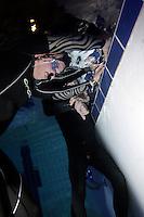 The first Norwegian freediving championship, held in Askinm, Norway..Bjarte Nygard  doing static apnea 6 min 12 seconds. © Fredrik Naumann/Felix Features