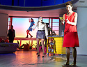 Woman On The Verge of A Nervous Breakdown The Musical. Based on the movie by Pedro Almodovar. Music and Lyrics by David Yazbek,Book by Jeffrey Lane, directed by Bartlett Sher. With  Anna Skellern as Candela, Seline Hizli as Marisa, Tamsin Greig as Pepa Marco.Opens at The Playhouse Theatre on 12/1/15. CREDIT Geraint Lewis