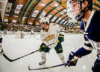 10 February 2017: University of Vermont Catamount Defenseman Matt O'Donnell, a Freshman from Fountain Valley, CA, in first period action against the University of New Hampshire Wildcats at Gutterson Fieldhouse in Burlington, Vermont. The Catamounts fell to the Wildcats 4-2 in the first game of their 2-game Hockey East Series. Mandatory Credit: Ed Wolfstein Photo *** RAW (NEF) Image File Available ***