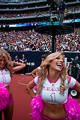 Houston, Texas<br /> October 2, 2011<br /> <br /> Houston Texas cheerleaders on the sidelines pump up the crowd. <br /> <br /> The Houston Texans vs Pittsburgh Steelers at the Reliant Stadium. The Texans win 17 to 10.