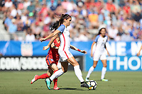 Cary, NC - Sunday October 22, 2017: Alex Morgan during an International friendly match between the Women's National teams of the United States (USA) and South Korea (KOR) at Sahlen's Stadium at WakeMed Soccer Park. The U.S. won the game 6-0.