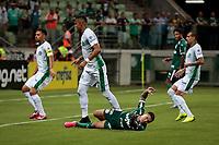 São Paulo (SP), 20/02/2020 - Palmeiras-Guarani - Dudu sofre penalti. Palmeiras e Guarani, durante partida válida pela sétima rodada do campeonato paulista 2020, no Allianz Parque, zona oeste da capital, na noite desta quinta-feira (20).