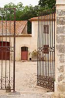 Chateau de Montpezat. Pezenas region. Languedoc. The gate. France. Europe.