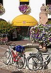 Italy, Alto Adige - Trentino (South Tyrol), Community Appiano sulla Strada del Vino, district San Michele: Tourist Information at village centre | Italien, Suedtirol, bei Bozen, Gemeinde Eppan Ortsteil St. Michael: Tourist Information im Dorfzentrum
