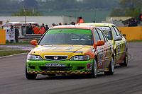 Round 3 of the 2002 British Touring Car Championship. #99 Jim Edwards Jr (GBR). Team B&Q. Honda Accord.