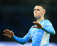 21st September 2021; Etihad Stadium,Manchester, England; EFL Cup Football Manchester City versus Wycombe Wanderers; Phil Foden of Manchester City