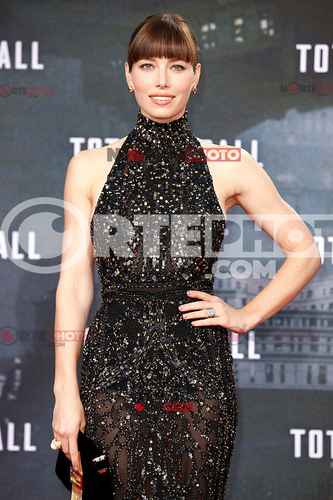 """Actress Jessica Biel wore an Elie Saab dress, a Fendi bag and Lorraine Schwartz jewels while attending the germany premiere of the movie """"TOTAL RECALL"""" at CineStar Sony Center in Berlin, Germany, 13.08.2012...Credit: Tomasz Poslada/face to face /MediaPunch Inc. ***FOR USA ONLY*** ***Online Only for USA Weekly Print Magazines*** /NortePhoto.com*<br /> <br /> **CREDITO*OBLIGATORIO** <br /> *No*Venta*A*Terceros*<br /> *No*Sale*So*third*<br /> *** No Se Permite Hacer Archivo**"""