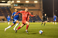 Sam Ling, Leyton Orient gets beyond Cohen Bramall, Colchester United during Colchester United vs Leyton Orient, Sky Bet EFL League 2 Football at the JobServe Community Stadium on 14th November 2020