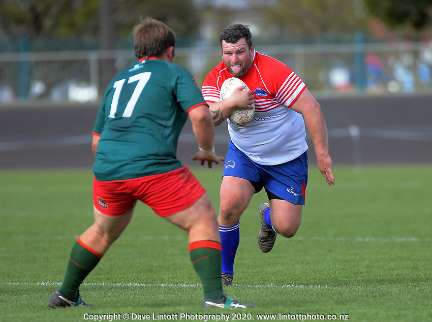 Action from the Heartland Championship and PGG Wrightson Cup rugby match between Horowhenua-Kapiti and Wairarapa Bush at Levin Domain in Levin, New Zealand on Saturday, 8 August 2020. Photo: Dave Lintott / lintottphoto.co.nz