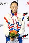 Yuka Mabuchi,<br /> SEPTEMBER 18, 2015 - Diving : <br /> All Japan Diving Championship 2015<br /> Women's 3m Springboard Award ceremony<br /> at Tatsumi International Swimming Center, Tokyo, Japan.<br /> (Photo by Shingo Ito/AFLO SPORT)