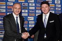 Piero Ausilio, Walter Mazzarri new Fc Inter Trainer <br /> Appiano Gentile (Co) 06/06/2013 <br /> Football Calcio 2013/2014<br /> presentazione nuovo allenatore F.C. Inter <br /> foto Daniele Buffa/Image Sport/Insidefoto