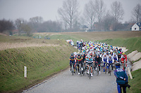 E3 Prijs Harelbeke.over the Holleweg with still some snow on the banks (late march!)