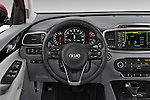 Car pictures of steering wheel view of a 2016 KIA Sorento SXT 5 Door SUV
