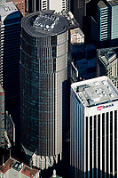 aerial photograph of 101 California Street and 100 California St, US Bank tower, San Francisco, California