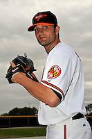Feb 27, 2010; Tampa, FL, USA; Baltimore Orioles  pitcher Dennis Sarfate (45) during  photoday at Ed Smith Stadium. Mandatory Credit: Tomasso De Rosa
