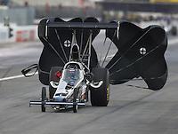 Feb 11, 2017; Pomona, CA, USA; NHRA top alcohol dragster driver Randy Eakins during the Winternationals at Auto Club Raceway at Pomona. Mandatory Credit: Mark J. Rebilas-USA TODAY Sports