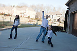 January 13, 2010. Waxhaw, North Carolina.. Vince Spera was one of the passengers on US Airways flight 1539 when it made an emergency landing in the Hudson River on January 15, 2009. After surviving the crash, Spera made a promise to spend more time with his family.. Mr. Spera, center, plays basketball with his wife Alexandra, left, and son Gabe (7).. ..