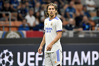 Luka Modric of Real Madrid reacts during the Uefa Champions League group D football match between FC Internazionale and Real Madrid at San Siro stadium in Milano (Italy), September 15th, 2021. Photo Andrea Staccioli / Insidefoto