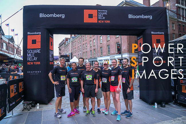 The Extra Mile 2018 -  Bloomberg senior team before  the New York race on 3 May 2018, in New York, USA. Photo by Enrique Shore / Power Sport Images