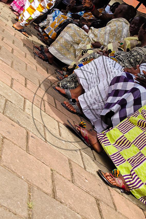 Africa, Ghana, Kumasi footwear of the cortege of Ashanti King Otunfuoosu II
