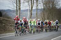 Lars Bak (DEN/Lotto-Soudal) leading the peloton (and changing vest) up the Nieuwe Kwaremont<br /> <br /> 71st Dwars door Vlaanderen (1.HC)