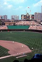 Ballparks: Chicago Wrigley Field. Centerfield bleachers.