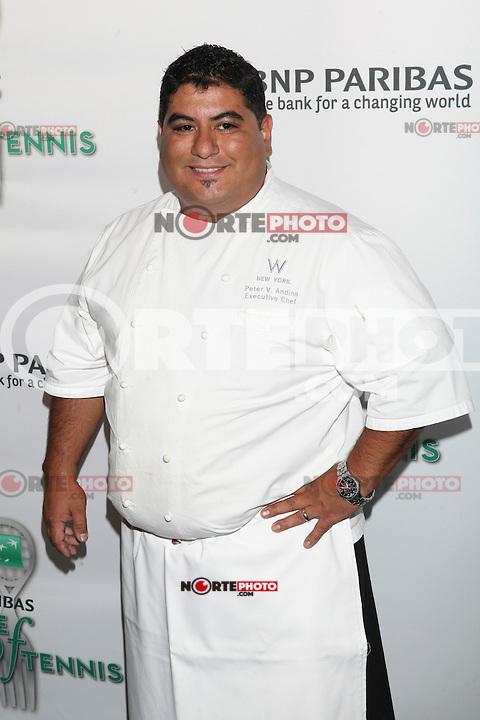 Chef Peter Andino of Heartbeat attends the 13th Annual 'BNP Paribas Taste of Tennis' at the W New York.  New York City, August 23, 2012. ©Diego Corredor/MediaPunch Inc. /NortePhoto.com<br /> <br /> **SOLO*VENTA*EN*MEXICO**<br />  **CREDITO*OBLIGATORIO** *No*Venta*A*Terceros*<br /> *No*Sale*So*third* ***No*Se*Permite*Hacer Archivo***No*Sale*So*third*
