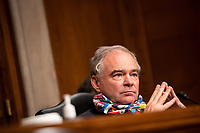 """United States Senator Tim Kaine (Democrat of Virginia) during the US Senate Health, Education, Labor, and Pensions Committee hearing titled """"COVID-19: Going Back to School Safely"""" on Capitol Hill in Washington, DC on Thursday, June 4, 2020.<br /> Credit: Ting Shen / CNP/AdMedia"""