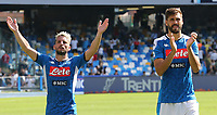 Dries Mertens of Napoli and Fernando Llorente celebrate at the end of the match<br /> Napoli 29-9-2019 Stadio San Paolo <br /> Football Serie A 2019/2020 <br /> SSC Napoli - Brescia FC<br /> Photo Cesare Purini / Insidefoto