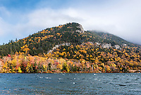 Echo Lake in Franconia Notch State Park, New Hampshire, USA.